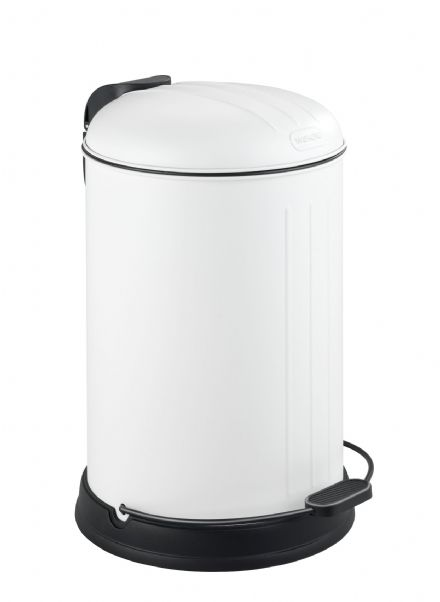Wenko Lagun Matt White Kitchen/Bathroom Bin 12L